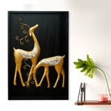 ecraftindia-golden-deer-with-wooden-frame-handcrafted-wall-hanging_1
