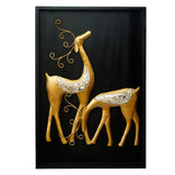 ecraftindia-golden-deer-with-wooden-frame-handcrafted-wall-hanging_3