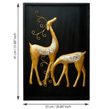 ecraftindia-golden-deer-with-wooden-frame-handcrafted-wall-hanging_4