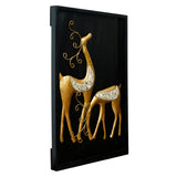 ecraftindia-golden-deer-with-wooden-frame-handcrafted-wall-hanging_5