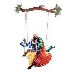 eCraftIndia Radha Krishna on Swing Wall Hanging