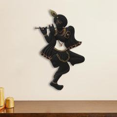 IRKWH506-eCraftIndia-Black-Lord-Krishna-Playing-Flute-Handcrafted-Decorative-Iron-Wall-Hanging_1