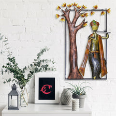 IRKWH510-eCraftIndia-Lord-Krishna-Playing-Flute-Under-Tree-Handcrafted-Iron-Wall-Hanging_1