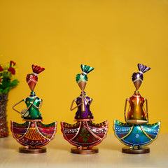 IRLADY505-eCraftIndia-Set-of-3-Tribal-Ladies-Playing-Different-Musical-Instruments-Decorative-Showpiece_1