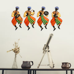 IRMAN506_SO4-eCraftIndia-Set-Of-4-Tribal-Man-Playing-Different-Musical-Instruments-Wall-Hanging_1