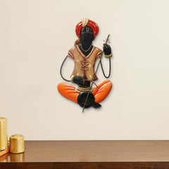 IRMAN512-eCraftIndia-Musician-Tribal-playing-Veena-Handcrafted-Iron-Wall-Hanging_1