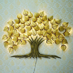 IRTREE500-eCraftIndia-Golden-Leaves-Tree-Handcrafted-Iron-Wall-Hanging-with-background-LED's_1