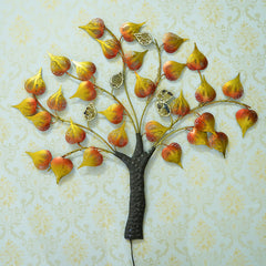 IRTREE502-eCraftIndia-Colorful-Leaves-Tree-Handcrafted-Iron-Wall-Hanging-with-background-LED's_1
