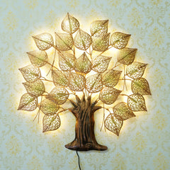 IRTREE504-eCraftIndia-Golden-Leaves-Tree-Handcrafted-Iron-Wall-Hanging-with-background-LED's_1