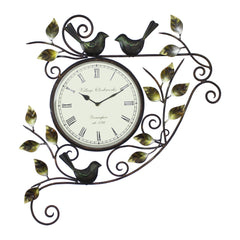 iwc500-ecraftindia-leafs-and-birds-design-handcrafted-iron-wall-clock_1