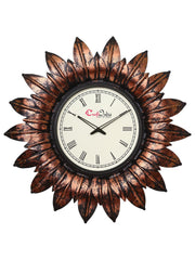 IWCACF_2402_R-eCraftIndia-Brown,-Copper-and-Black-Decorative-Iron-Handcarved-Premium-Wall-Clock_1