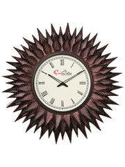 IWCACF_2403_R-eCraftIndia-Brown,-Copper-and-Black-Decorative-Iron-Handcarved-Premium-Wall-Clock_1
