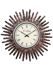 IWCACF_2404_R-eCraftIndia-Brown,-Copper-and-Black-Decorative-Iron-Handcarved-Premium-Wall-Clock_1