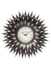 IWCACF_2407_R-eCraftIndia-Brown-and-Black-Decorative-Iron-Handcarved-Premium-Wall-Clock_1