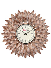 IWCACF_2409_R-eCraftIndia-Brown,-Copper-and-Black-Decorative-Iron-Handcarved-Premium-Wall-Clock_1