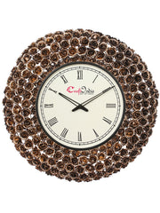 IWCACF_2410_R-eCraftIndia-Golden,-Brown-and-Black-Decorative-Iron-Handcarved-Premium-Wall-Clock_1