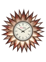 IWCACF_2411_R-eCraftIndia-Brown-and-Black-Decorative-Iron-Handcarved-Premium-Wall-Clock_1