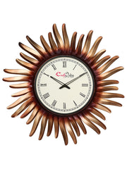 IWCACF_2415_R-eCraftIndia-Copper,-Brown-and-Black-Decorative-Iron-Handcarved-Premium-Wall-Clock_1
