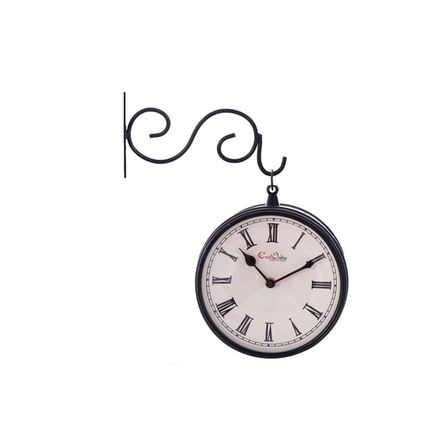 ecraftindia-handcrafted-antique-vintage-station-wall-clock-dual-view-dial-size-8-inch-black-color_1