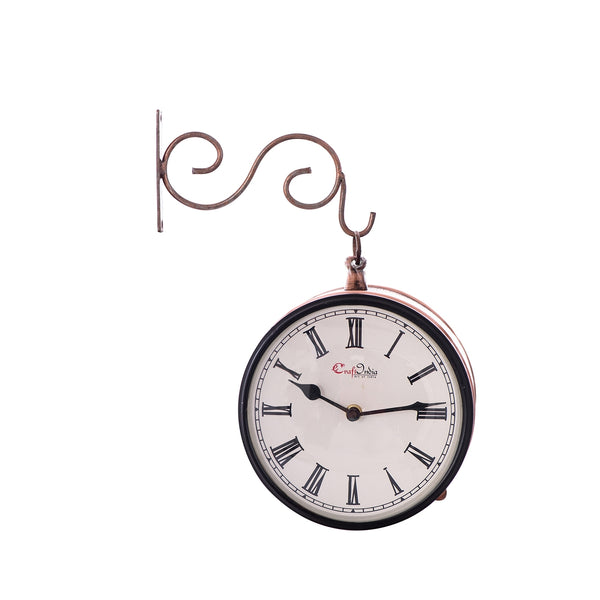 ecraftindia-handcrafted-antique-vintage-station-wall-clock-dual-view-dial-size-8-inch-brown-color_1