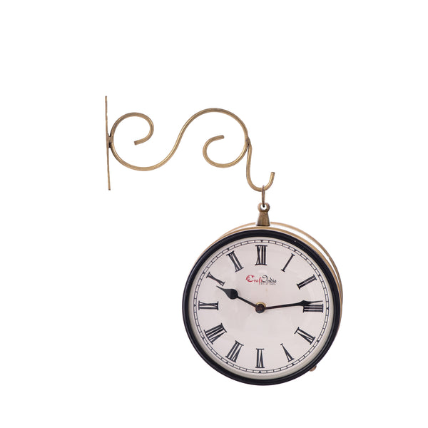 ecraftindia-handcrafted-antique-vintage-station-wall-clock-dual-view-dial-size-8-inch-golden-color_1