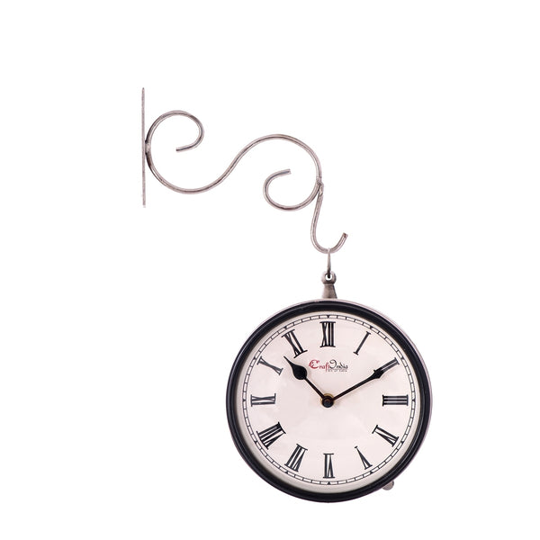 ecraftindia-handcrafted-antique-vintage-station-wall-clock-dual-view-dial-size-8-inch-silver-color_1