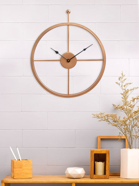 ecraftindia-copper-color-iron-round-hand-crafted-analog-wall-clock-without-glass-(-46cm-x-53cm-)_1