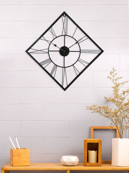 ecraftindia-black-iron-kite-shape-hand-crafted-analog-wall-clock-without-glass-(-64cm-x-64cm-)_1