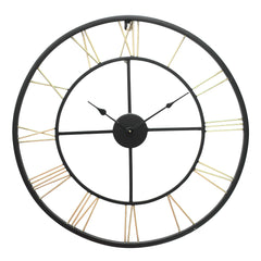 IWCHB_1243-eCraftIndia-Golden-Black-Round-Iron-Wall-Clock-Roman-Numbers-(24-x-24-Inch)_1