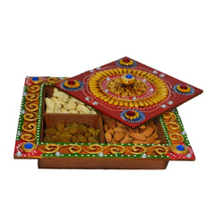 eCraftIndia Papier-Mache Dry Fruit Box (without Dry Fruits)