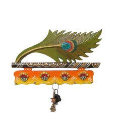 eCraftIndia Papier-Mache Mor Pankhi Key Holder