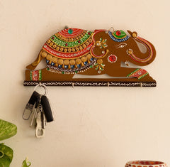 kkh518-ecraftindia-papier-mache-elephant-key-holder_1