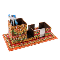 ecraftindia-multiutility-papier-mache-wooden-penstand-and-visiting-card-holder_1