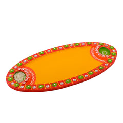 ecraftindia-wooden-papier-mache-embossed-oval-shape-pooja-thali_1
