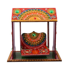 ecraftindia-decorative-papier-mache-work-wooden-jhula-temple_1