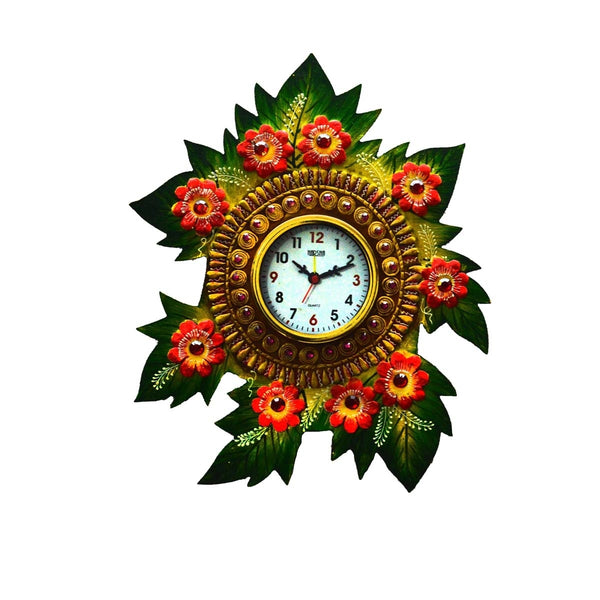 ecraftindia-papier-mache-floral-handcrafted-wall-clock_1