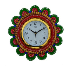 ecraftindia-papier-mache-sublime-round-handcrafted-wall-clock_1