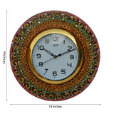 ecraftindia-papier-mache-kundan-studded-handcrafted-wall-clock_2