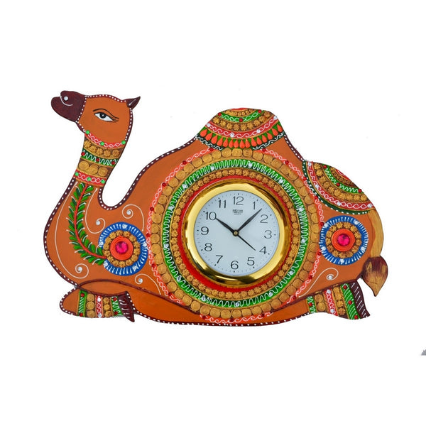 ecraftindia-papier-mache-camel-handcrafted-wall-clock_1