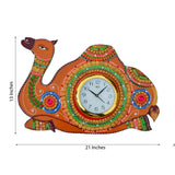 ecraftindia-papier-mache-camel-handcrafted-wall-clock_2