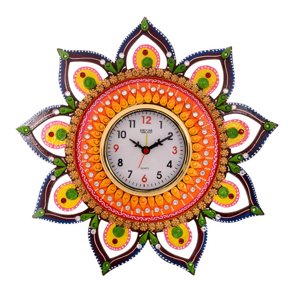 ecraftindia-decorative-and-glossy-papier-mache-wooden-handcrafted-wall-clock_1