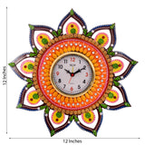 ecraftindia-decorative-and-glossy-papier-mache-wooden-handcrafted-wall-clock_2