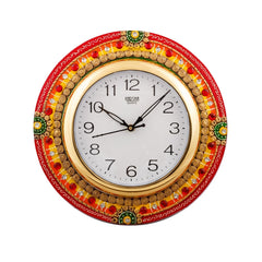 eCraftIndia Fine Crafted Elegant Papier-Mache Wooden Handcrafted Wall Clock