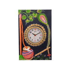 ecraftindia-wooden-papier-mache-matki-design-artistic-handcrafted-wall-clock_1