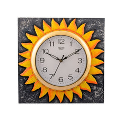 ecraftindia-wooden-glorious-sun-design-artistic-handcrafted-wall-clock_1