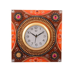 ecraftindia-wooden-papier-mache-rick-look-artistic-handcrafted-wall-clock_1