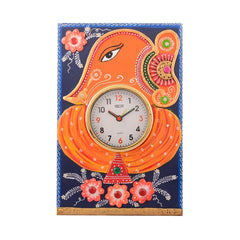 eCraftIndia Wooden Papier Mache Lord Ganesha Artistic Handcrafted Wall Clock