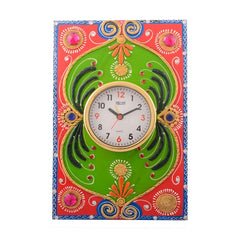 ecraftindia-wooden-papier-mache-embossed-artistic-handcrafted-wall-clock_1