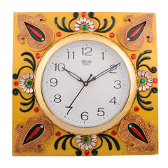 ecraftindia-wooden-papier-mache-decorative-embossed-handcrafted-wall-clock_1