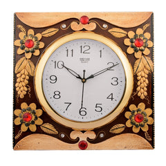 ecraftindia-wooden-papier-mache-adorning-floral-handcrafted-wall-clock_1